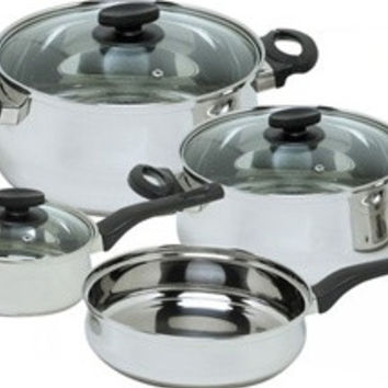 Due Azul Enamel On Steel 7 Piece, Cookware Set