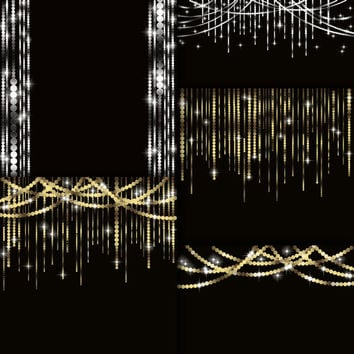 String Lights Digital Clip Art.PNG Images + jpeg file / Instant Download