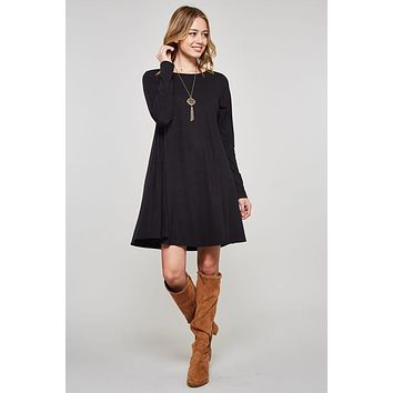 Winter Swing Dress - Black