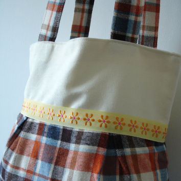 Floral handbag,Tote handbag,flannel tote bag,Shopping bag