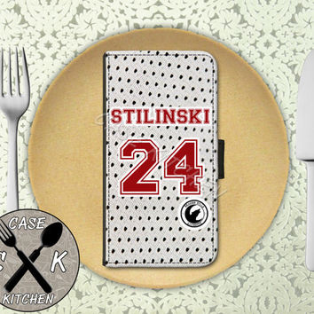 Teen Wolf Inspired Jersey Stiles Stilinski Beacon Hills Lacrosse Custom Wallet Phone Case For The iPhone 4 and 4s and iPhone 5 and 5s and 5c
