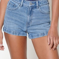 PacSun Oceanview Blue Mom Shorts at PacSun.com - medium indigo | PacSun