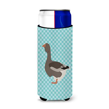 Toulouse Goose Blue Check Michelob Ultra Hugger for slim cans