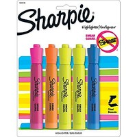 Sharpie® Accent Tank Style Highlighter, Chisel Tip, Assorted, 5/pk (1809199) | Staples