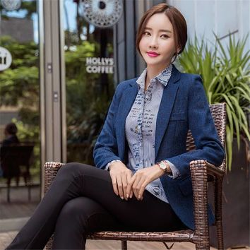 Womens formal suit blazer Workwear office uniform blazers feminino spa elegant business female suits jackets suit women office
