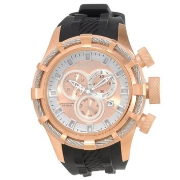 Invicta 15779 Men's Bolt Reserve Sport Chronograph Rose Gold Dial Black Rubber Strap Dive Watch