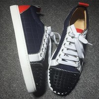 Christian Louboutin CL Low Style #2044 Sneakers Fashion Shoes Best Deal Online