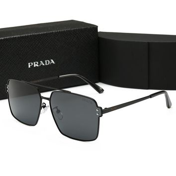 Prada Fashionable Women Men Casual Summer Sun Shades Eyeglasses Glasses Sunglasses