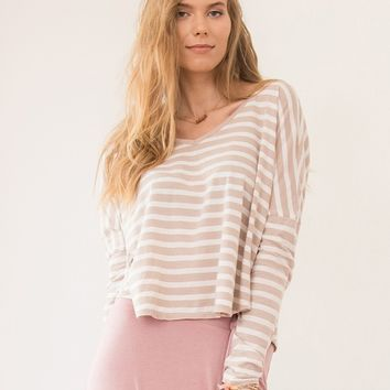 Evelyn Oversized Knit Stripe Top | Ruche