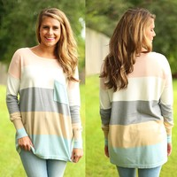 Block Party Sweater in Peach