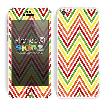 Vibrant Yellow Chevron Pattern V3 Skin For The iPhone 5c