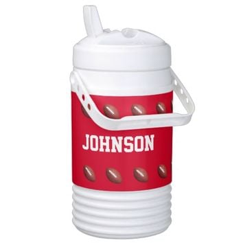 Personalized Igloo Beverage Cooler Football Red