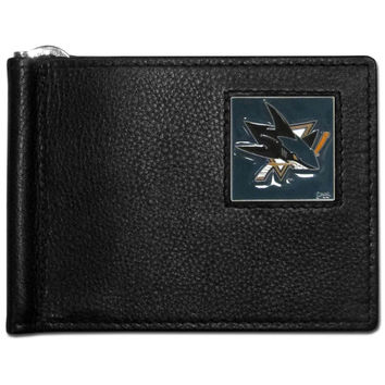 San Jose Sharks Leather Bill Clip Wallet