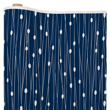 Heather Dutton Navy Entangled Fabric By The Yard