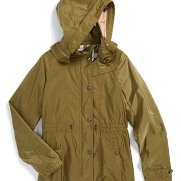 Girl's Burberry 'Marylesdale' Hooded Nylon Jacket