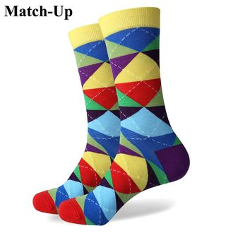 Match-Up Colorful ARGYLE SOCK fun men's Cotton Socks