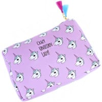 Crazy Unicorn Lady Pouch