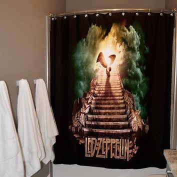 Rock Shower Curtain Led Zeppelin Shower Curtain