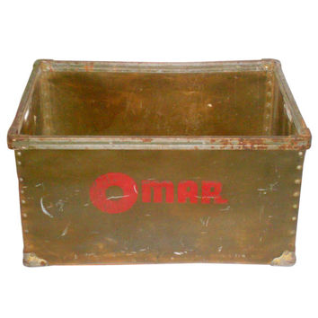 1930s Bread Shipping Bin from the Omar Baking Co