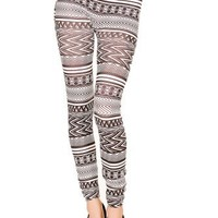 Just One Womens Aztec Seamless Printed Leggings (L)
