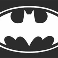 Batman Decal Sticker White
