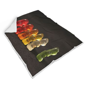 March of the Gummy Bears Sherpa Blanket