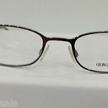 NEW AUTHENTIC GIORGIO ARMANI GA 146 COL ZK2 SILVER METAL EYEGLASSES FRAME