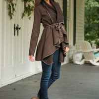 Wrapped With Warmth Jacket, Brown
