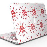 The Abstract Red Flower Pedals - MacBook Air Skin Kit