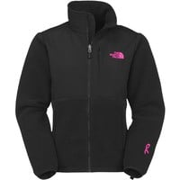 The North Face Women's Pink Ribbon Denali Jacket, Recycled TNF Black