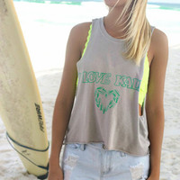 I Love Kale SOUTHWARD APPAREL Crop Tank