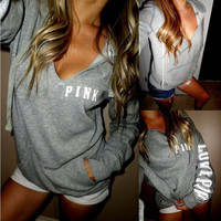 Women's Fashion T-shirts Long Sleeve Print Hoodies [9503683460]