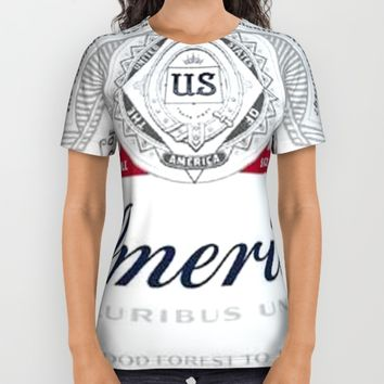 America Beer All Over Print Shirt by Neon Monsters