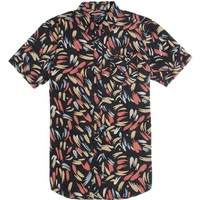 RVCA Cubano Short Sleeve Woven Shirt - Mens Shirts - Black