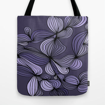 Vintage (purple) Tote Bag by DuckyB (Brandi)
