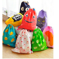 Drawstring Backpack Cinch Sack Tote Gym Bag School Bag Sport Pack Duffle Bag