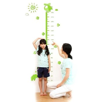 Home Decor Living Room Height Measure 3D Wall Stickers