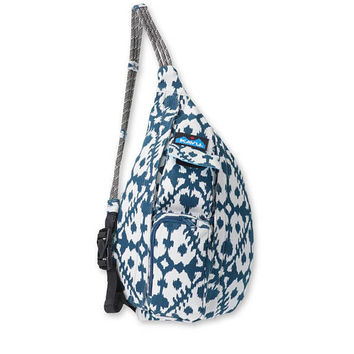 Monogrammed Kavu NEW Mini Rope Bag - Blue Blot | Monogram Crossbody Bag | Teens | kids | Outdoors Satchel | Gift for Her | Canvas Sling Bag