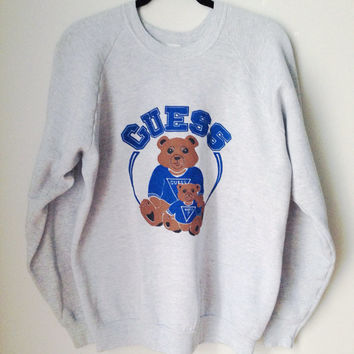 Guess Bear Crewneck Sweatshirt Size XL