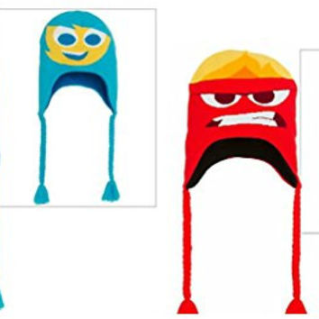 Inside Out Joy, Sadness, Anger & Fear Reversible Peruvian Hat (2 Pack)