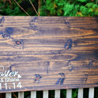 Rustic Wood Slab Guest Book, Rustic Wedding, Wedding Guest Book SHIPS IN 3-5 DAYS!