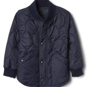 Puffer fleece-lined jacket | Gap