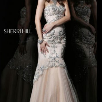 Sherri Hill 21058 Strapless Mermaid Sale Prom Dress