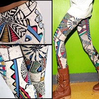 TRIBAL AZTEC LEGGINGS