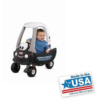 Police Car 'Tikes Patrol Cozy Coupe Little Tikes Toy Kids Play Kid Ride-On