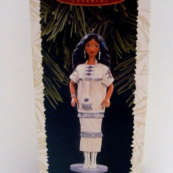 Barbie Holiday Native American Dolls of the World Ornament Hallmark Keepsake Collectors Christmas 1st Series First Patricia Andrews 1996