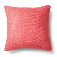 Threshold™ Pebble Decorative Pillow - Coral (Square)
