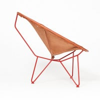 Totokaelo Art–Object - Garza - Oval Lounge Chair-Saddle Leather - Red