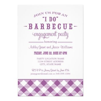 "Wedding Engagement Party Invitation | ""I Do"" BBQ"