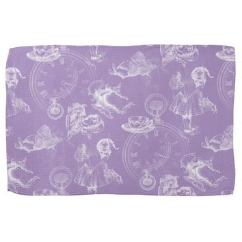 Alice in Wonderland Tea Time Lavender Towel